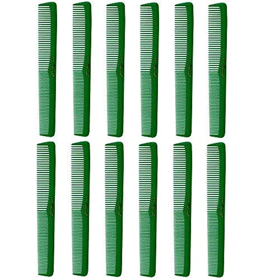 ドロータクト拍手するBarber Beauty Hair Cleopatra 400 All Purpose Combs (12 Pack) 12 x SB-C400-GREEN [並行輸入品]