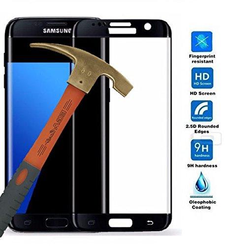 Todobarato24h Protector de Cristal Templado Completo 3D Negro Compatible con Samsung Galaxy S7 Edge