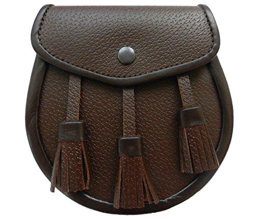 UT Kilts Scottish Kilt Brown Leather Sporran
