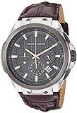 Vince Camuto VC/1111DGSG Reloj multifunción para hombre con correa de piel de cocodrilo café y tono plateado