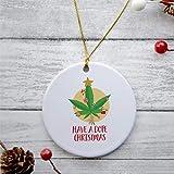 DONL9BAUER Funny Weed 2020 - Adornos de Navidad para adultos, diseño de árbol de Navidad