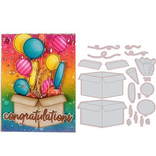 Doe-het-zelf stansvorm metaal stansvormen verjaardagscadeau box lijst sjabloon voor DIY verzamelalbum handwerk stempel papier fotokaarten maken