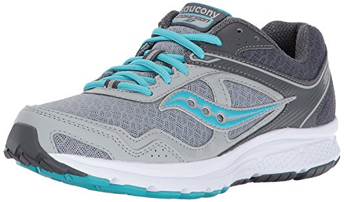 Saucony Women's Cohesion 10 Running Shoe, Grey Blue, 8.5 Medium US