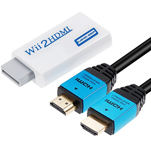 Zacro Convertidor de Wii a HDMI Real 720P 1080P HD Salida de