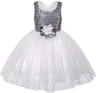 BabyDating Girls Sequins Dresses Princess Tulle Glitter Dress Sparkly Flower Girl Dresses