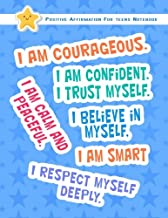Positive Affirmation Notebook For Teens: Positive Self-Affirmations for Teens Teenagers Book Journal Cards Notebook (Positive Self Affirmation Books ... Teenager Children Series 2) (Volume 1)