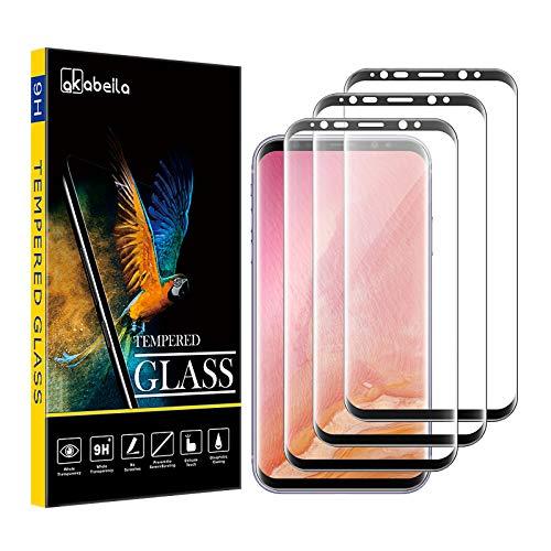 AKABEILA Cristal Templado Compatible para Samasung S8 Plus Protector de Pantalla para...