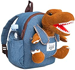 4. Naturally KIDS Toddler Dinosaur Backpack with Plush Dinosaur Toy for Kids 3-5