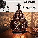 Gadgy ® Orientalische Lampe (36 cm) l Für Kerzen und elektrische Lichter l Innen und Außen Deko l Windbeständig l Marokkanisch Arabisch Orientalisch l Handgemacht - 2