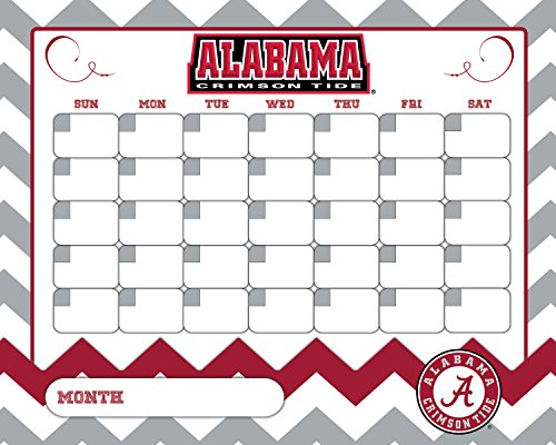 Alabama Calendar- Alabama Crimson Tide Dry Erase CALENDAR-16 X 20