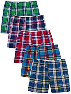 Fruit of the Loom Men's Woven Tartan and Plaid Boxer...