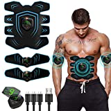 EGEYI Abs Trainer Abdominal Belt, EMS Muscle Stimulator with LCD Display & USB