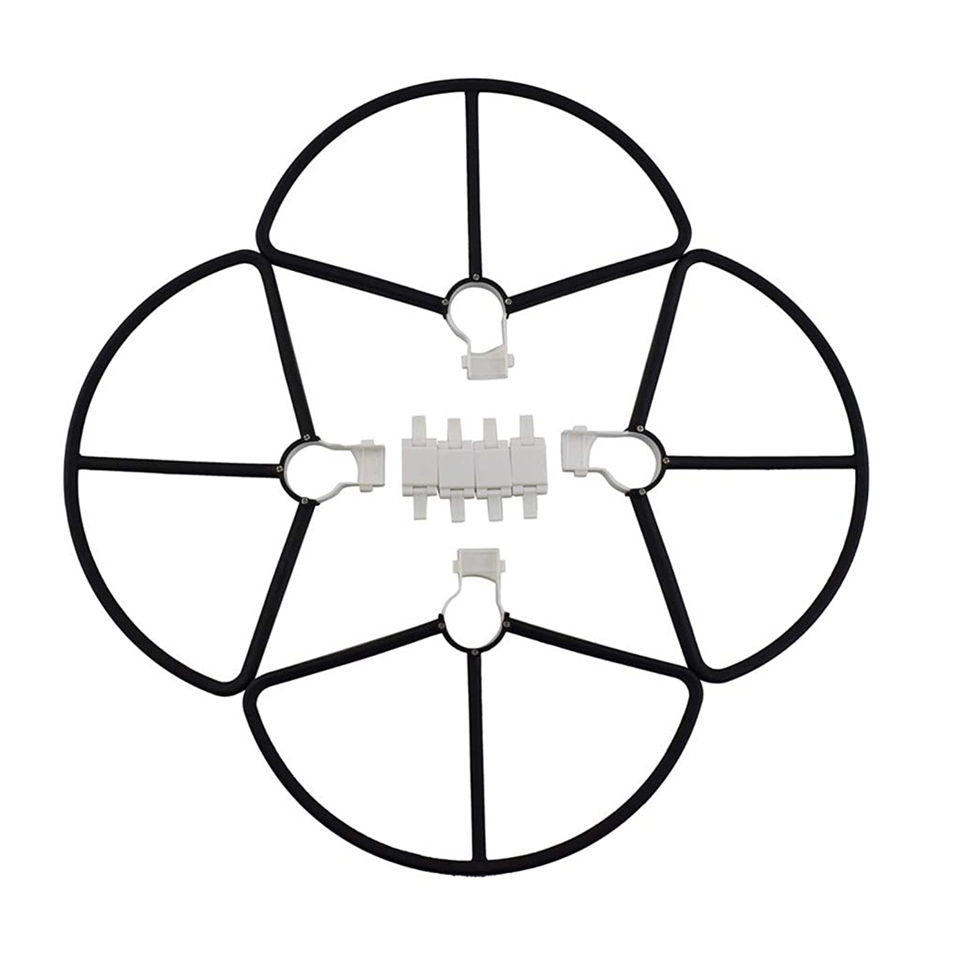 Solovley Drone Accessories, Quick Release Protective Cover for Hubsan Zino H117S Drone Accessories (4 Pc) (Black)