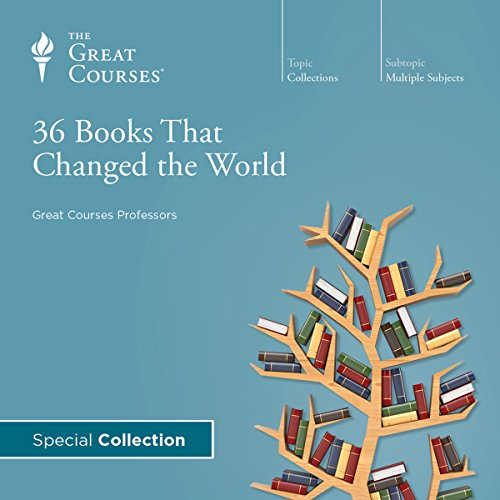 36 Books That Changed the World                   By:                                                                                                                                 The Great Courses,                                                                                        Andrew R. Wilson,                                                                                        Brad S. Gregory,                   and others                          Narrated by:                                                                                                                                 Andrew R. Wilson,                                                                                        Brad S. Gregory,                                                                                        Charles Kimball,                   and others                 Length: 18 hrs and 41 mins     20 ratings     Overall 4.4