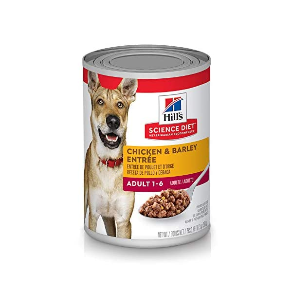 Hill's Science Diet Wet Dog Food, Adult, Chicken & Barley Recipe, 13 oz. Cans, 12 Pack