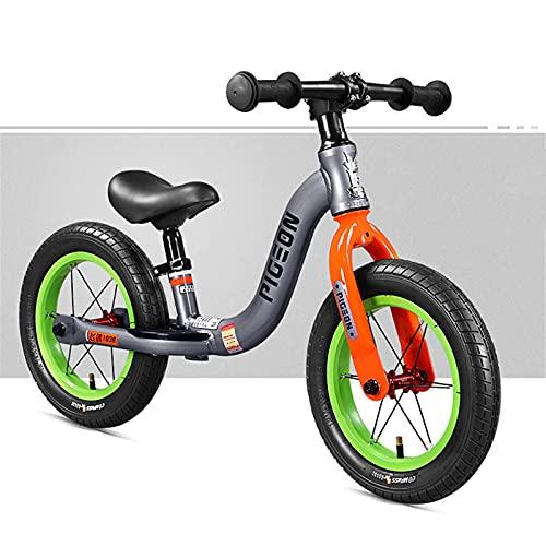 Laufrad 12in Kids Balance Bike, Aluminium-Rahmenräder mit Verstellbarem Sitz, Kein Pedaltraining Fahrrad für...