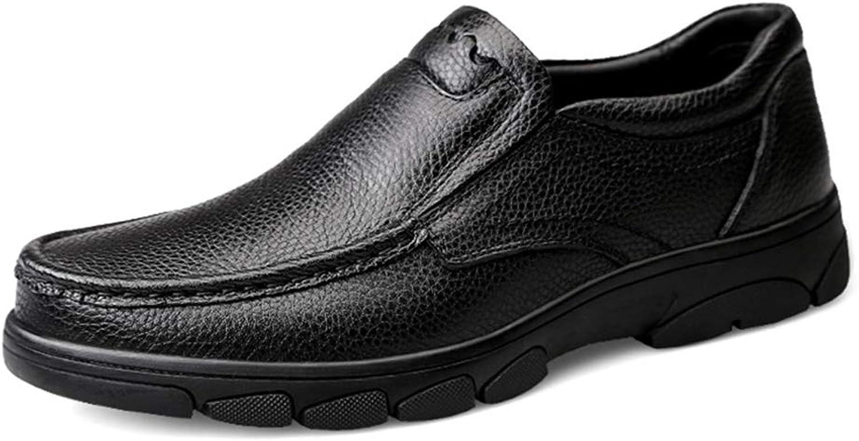 Cvbndfe-Men's Casual schuhe Bequeme Herrenschuhe Mode-Oxford-einfacher niedriger Spitzenbeleg Spitzenbeleg auf runden Zehenschuhen Atmungsaktiv bequem (Farbe   Schwarz, Größe   38 EU)  bekannte Marke