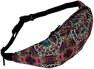 Fashion 3D Colorful Waist Pack for Men Fanny Pack Style Bum Bag Women Money Belt Travelling Mobile Phone Bag-ek