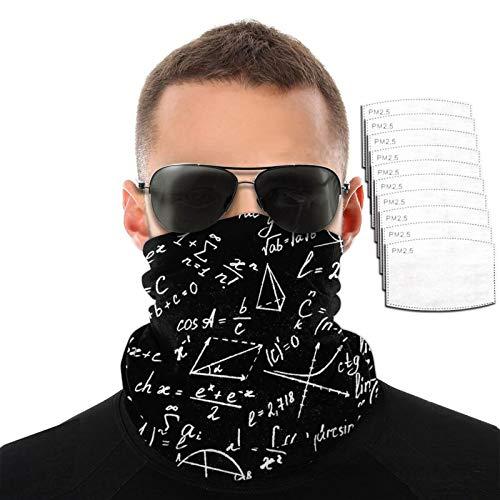 Una fórmula matemática ecuación hombres mujeres deportes al aire libre a prueba de viento transpirable variedad toalla facial