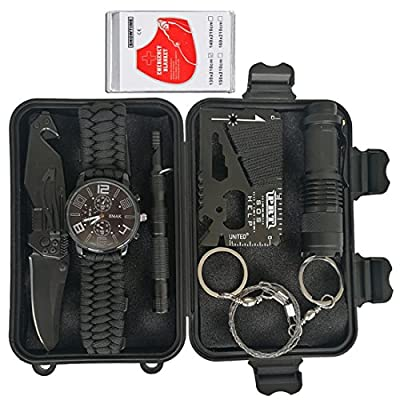 XinHe Survival Kit in Car Outdoor Emergency Gear EDC Tools for Long Road Trip/Hiking/Camping