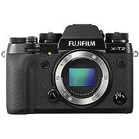 """Fujifilm X-T2 - Cámara sin espejo de óptica intercambiable de 24,3 MP (pantalla LCD de 3"""", APS-C""""X-Trans CMOS III"""", 100-51200, estabilizador tipo OIS, WiFi, video 4K), negro - cuerpo"""