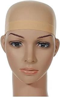 قبعة باروكة شبكية مرنة للغاية، اكسسوار للشعر المستعار بلون بيج