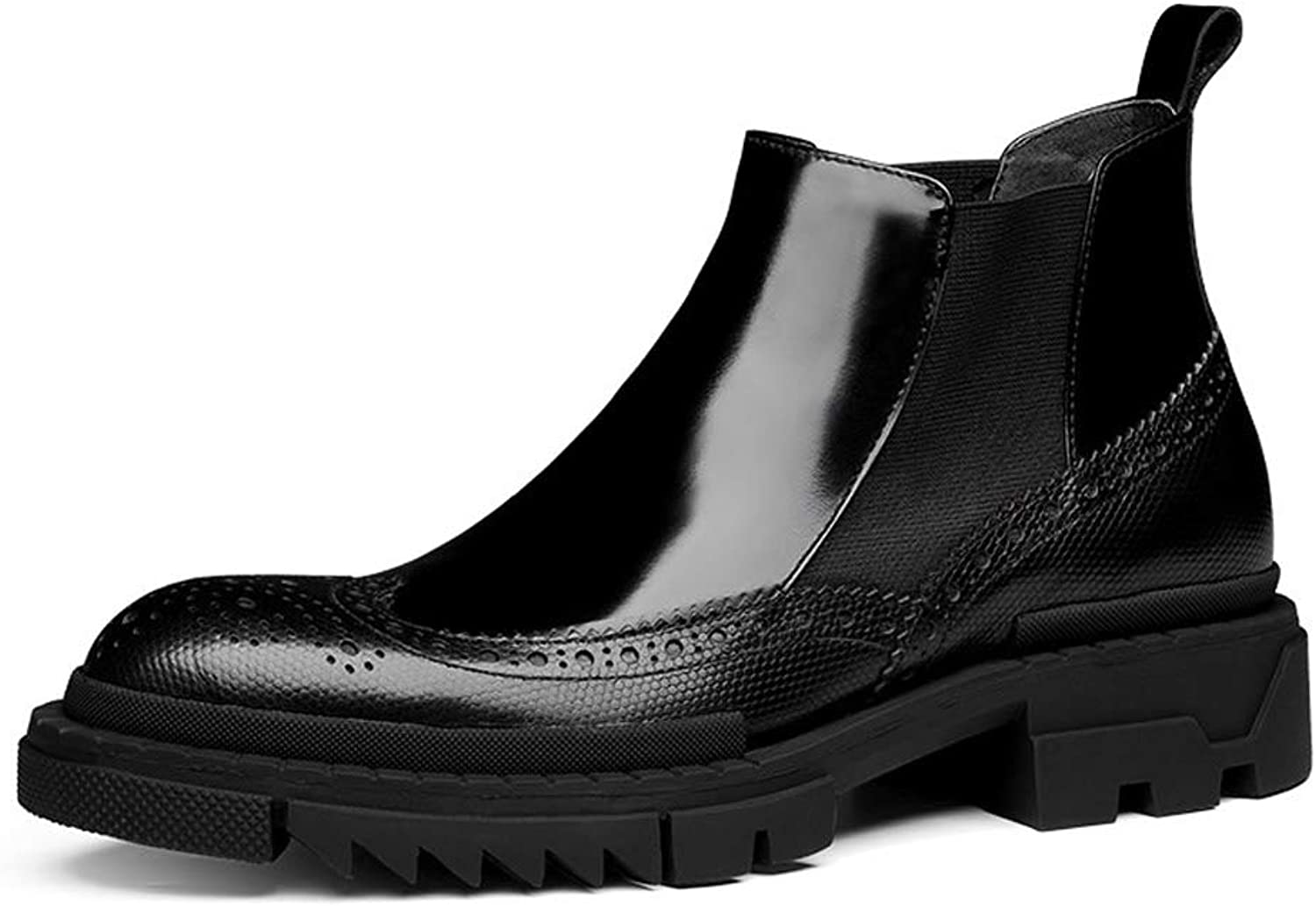 Jsix Men's Genuine Leather Ankle Boots Brogues Chelsea Boot