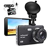 Dual Dash Camera for Cars Dash Cam Front and Rear 1080P Full HD Car Recorder 4 Inch IPS Screen 170°Wide...