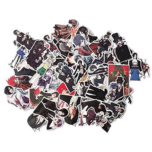 ALTcompluser 70 stk Anime Black Butler Kuroshitsuji Stickers Wasserdicht Vinyl Aufkleber für Laptop, Macbook, Gepäck, Skateboard