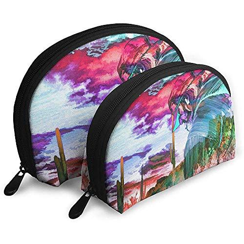 Fantasie Kunst Bunte Kunst Malerei tragbare Taschen Make-up Tasche Kulturbeutel Multifunktions tragbare Reisetaschen mit Reißverschluss