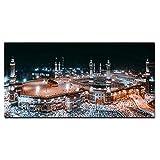 mmzki Bild Mekka Islamische Heilige Landschaft HD Print Leinwand Gemälde Religiöse Architektur Muslimische Moschee Wandkunst Bild Home Decor Cuadros No Frame