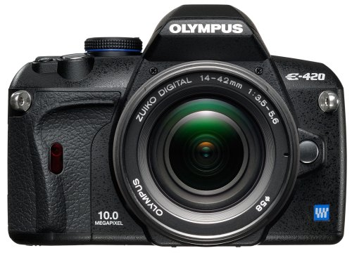 Olympus E-420 SLR-Digitalkamera (10 Megapixel, LifeView) Kit inkl. 17.5-45mm Objektiv