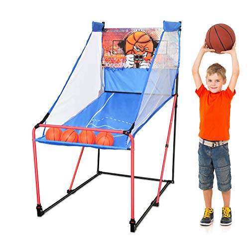 Sportcraft Basketball Arcade Game, Indoor Play Equipment - Sports Activities & Birthday Party Games for Kids