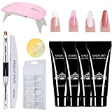 Gel nails kit,Anself 15ml Nail Gel de Construcción Rápida Gel UV Espátula Extensión del cepillo Puntas falsas Set