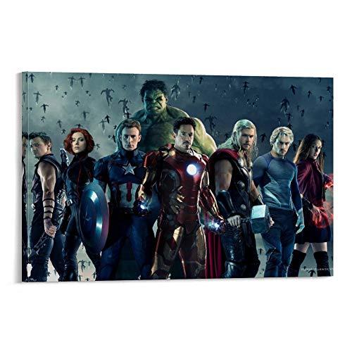 DRAGON VINES Póster de Avengers, Age of Ultron, Black Widow, Capitán América, Hulk, Thor Art Art Print para decoración de pared de 50 x 75 cm