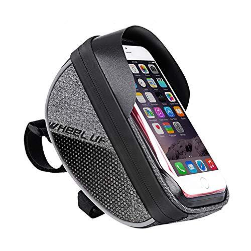 Yagosodee Marco de la bicicleta de la bolsa del manillar de la bolsa impermeable con pantalla táctil bolsa para el teléfono móvil dentro de 6.0