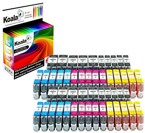 Koala 50 Druckerpatronen kompatibel für Canon PGI-550 CLI-551 für Canon Pixma IX6850 IP7250 IP8750 MG5450 MG5550 MG6350 MG6450 MG7150 MX725 10*Schwarz 10*Foto-Schwarz 10*Cyan 10*Magenta 10*Gelb