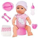 Bayer Design- Muñeca bebé recién Nacido Que Hace pipí, Piccolina First Newborn Baby, 40 cm, con Accesorios, Color Rosa (94071AE)