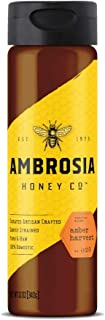 Sponsored Ad - AMBROSIA HONEY CO. Amber Harvest Gently Strained Honey, 12 oz. Bottle (Pack of 6) | Natural Sweetener, Suga...