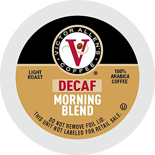 Decaf Morning Blend for K-Cup Keurig 2.0 Brewers, 42 Count, Victor Allen's Coffee Light Roast Single Serve Coffee Pods