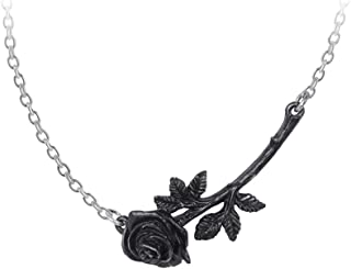 Alchemy Gothic Black Rose Enigma Pewter Pendant