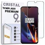 REY Protector de Pantalla para ONEPLUS 6T / One Plus 6T / ONEPLUS 7, Cristal Vidrio Templado Premium