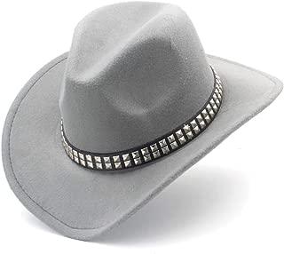 2019 Good Hat For Men Women Wool Western Cowboy Hat, Pop Wide Brim Church Hat, Sombrero Hat, Winter Casual Fascinator Hat, Size 56-58CM