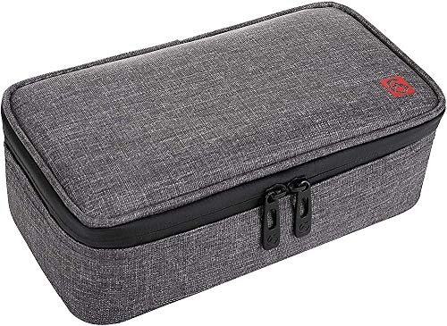 JUJ Large Insulin Cool Bag Diabetic Organizer Portable Medical Travel Cooler Case+ 4 Ice Packs-Dark Gray