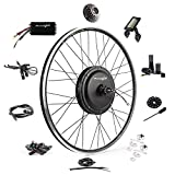 Ebike Conversion Kit 48V 1200W 700C Direct Drive Waterproof Electric Bike Conversion Kit - Ebike Kit - Hub Motor Kit S830 LCD Display (Rear/LCD/Twist)
