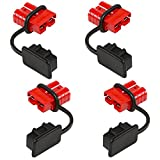 Orion Motor Tech 4 Pcs 6-8 Gauge Battery Quick Connect Disconnect Wire Harness Plug Kit for Recovery Winch or Trailer, 12-36V DC, 50A (4 Pcs)