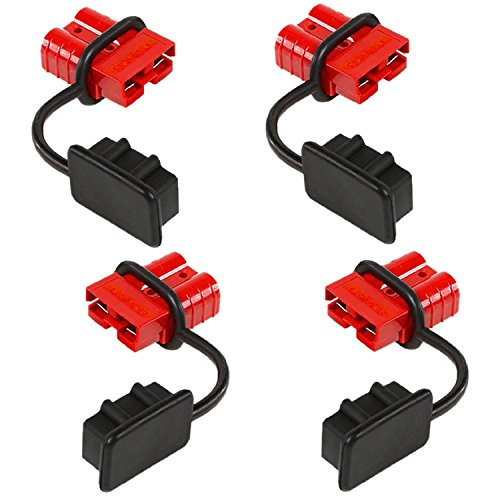 Orion Motor Tech 4 Pcs 6-8 Gauge Battery Quick Connect Disconnect Wire Harness Plug Kit for Recovery Winch or Trailer, 12-36V DC, 50A (4 Pcs) -  OMT-QCW-0050-04