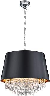 TRIO, Suspension, Loreley 3xE14, max.40,0 W Plastique, Transparent claire, Corps: metal, Chrome Ø:50,0cm, H:150,0cm IP20