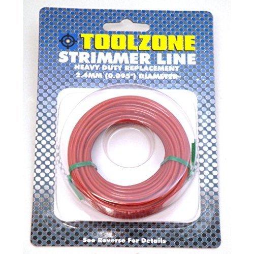 Toolzone - Filo per decespugliatore a Benzina, 2,4 mm A