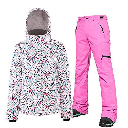 Mimioore ski-jack voor dames, met dubbele plank, waterdicht, voor volwassenen